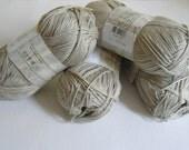 Naturel Oatmeal Bamboo yarn, Each skein: 100 gr, knitting yarn