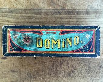 Vintage Dominoes Game box