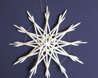 Straw Star Ornament, Straw Christmas Ornament - Large