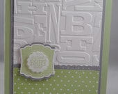 Handcrafted Green Baby Shower Card, Invitation