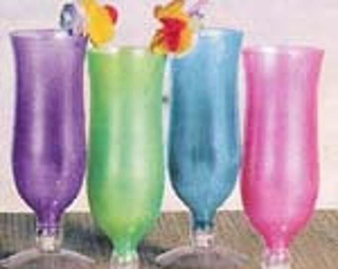 Plastic Hurricane Tumbler in assorted colors