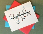 Molecular structure THANKS cards -- 6 pack -- Gratitude geekery