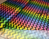 "Rainbow Chevron PUL-Yard Cut (36"" x 56/58"")"