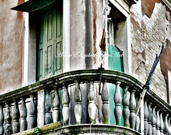 Italy Art, Italy Photography,Venice Print,Kitchen Art, Balcony, Aged,Rustic,Tuscan,Decayed,Moody,Green, Door,Wine Country,Mint Color, Earthy