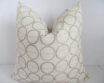 SALE Decorative Pillows,18x18 Light Brown Pillows, Ivory Pillows- Home Accent Pillows,Home Decor
