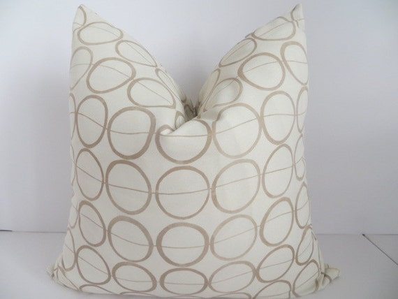 Light Brown Decorative Pillows : SALE Decorative Pillows18x18 Light Brown Pillows Ivory