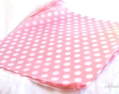 12 Pink With white Dot WAX PAPER sheets-Pink Lemonade party shop EXCLUSIVE-basket liners-food safe