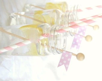 25 Wood Rock Candy Sticks--lollipops-cake pops-marshmallows--diy flags-cupcake picks-drink embellishment-etc