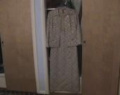VTG dress Harzfeld'sSilver Golden Lame Party  Dress