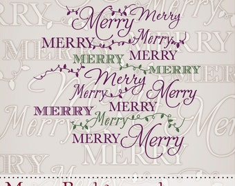 Instant Download Hero Arts Merry Background DK028 Christmas Digital Kit