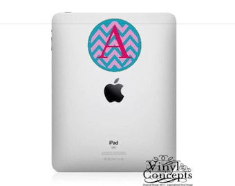 Chevron Monogram Decal - Three colors - Vinyl Wall Art