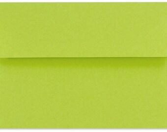"12 Wasabi Chartreuse A6 Envelopes 4 3/4"" x 6 1/2"""