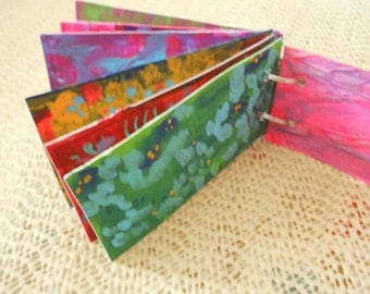 ACEO Art Journal with Double Ring, Beaded Safety Pin Binding