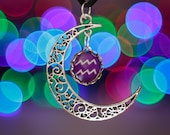Aquarius Zodiac Moon Necklace