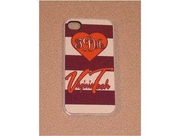Personalized Iphone Case - Love VT, iPhone Case, iPhone Cover, Personalized iPhone Case, Custom iPhone Case