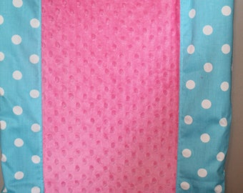 Deluxe Aqua Dot and Minky Contour Changing Pad Cover