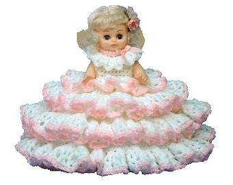 "PDF Crochet Bed Doll Pattern - 13"" Bed Doll Pattern Beth (7091 PDF) Td creations"