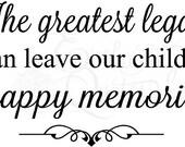 Vinyl Ready Quotes Happy Memories Wall Quote