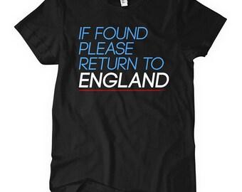 Women's Return to England T-shirt - S M L XL 2x - UK Ladies England Tee - 2 Colors