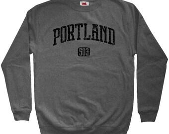 Portland 503 Sweatshirt - Men S M L XL 2x 3x - Crewneck Portland Shirt - PDX Oregon - 4 Colors