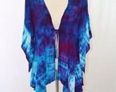 Tie Dye Top, Kimono Sleeve Jacket, Bohemian, Hippie Clothes