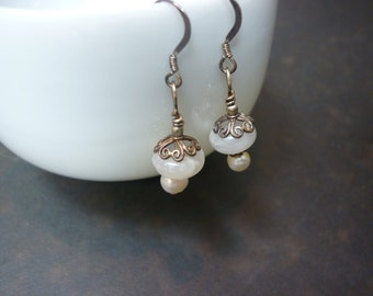 delicate moonflower earrings