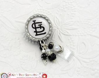 STL Badge Reels - Professional ID Holders - Classy Badge Clips - Designer Badge Reels - Beaded Name TAg Holders - Badge Reel Gifts - ID Wear