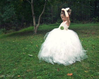 Lily of the Valley Tulle Flower Girl Dress