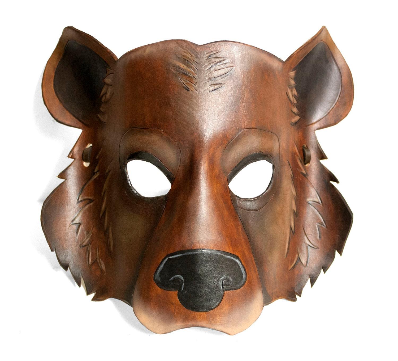 картинка маски медведя большая