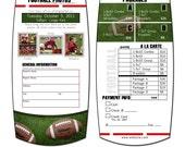 FOOTBALL - Sports Pricelist 5x10 - Memory Mate Sports Photo Template - Digital File