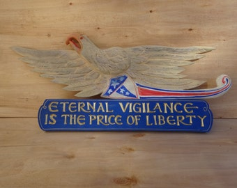 Patriotic Bellamy Eagle and Plaque