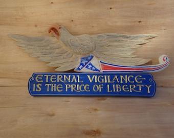 Patriotic Bellamy Eagle and Plaque