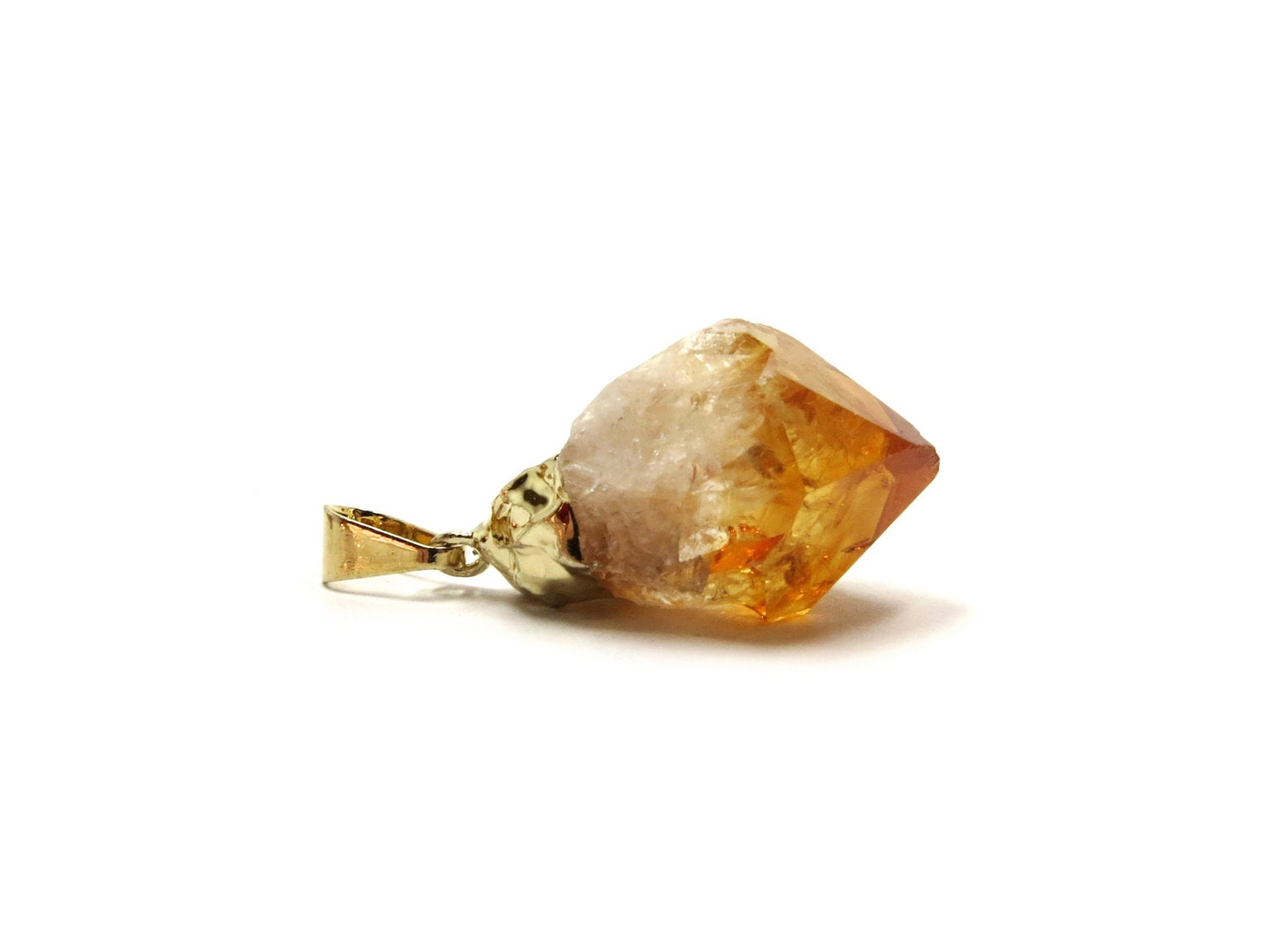 Citrine Raw Crystal Pendant