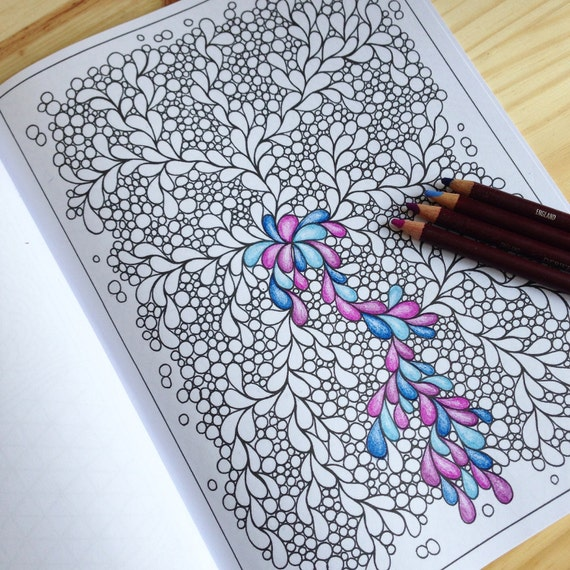 Pretty Patterns Colouring Book : Items similar to coloring book zentangle inspired