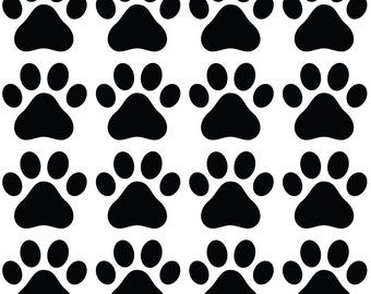 """PATT - Small Dog Paw Prints (16) - Vinyl Decal for Walls and Interiors - (Pack of 16 Paws) (2.25""""w x 2""""h)"""