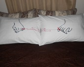 The Red String of Fate Pillowcases, Couples Bedroom Decor, Love Message, Going Away Gift Ideas