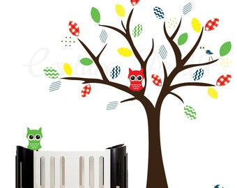 Kids tree wall decal, tree wall decal, decal tree owls, owls decal, decal owls, wall decal kids, childrens wall decal