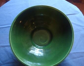Haeger 101 Olive Green Bowl