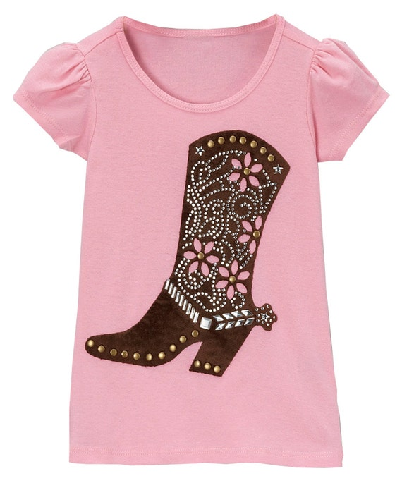 Girls western clothing cowgirl brown boot shirt rodeo for Ranch dress n rodeo shirts