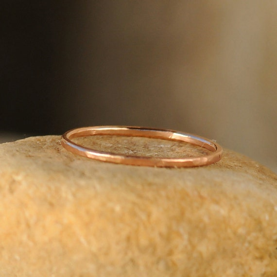 Stack Ring - Thin Stacking Ring - Rose Gold Stackable Ring