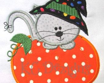 Halloween Cats 02 Machine Applique Embroidery Design - 4x4, 5x7 & 6x8