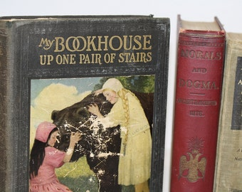 Antique Rare Book Bundle Home Decor Collectible Library Collection