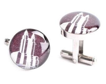 Waldorf Astoria Cufflinks, retro NYC inspired mens jewelry, mens cuff link accessories, style # AM006