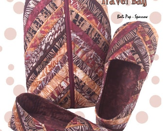 Papa Bear Slippers & Travel Case Pattern, Quilted Slippers and Travel Bag for Men by Cool Cat Creations