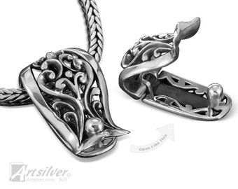 Sterling Silver Enhancer Pendant With Opening Bail, Same Design As KS071 - KS072s