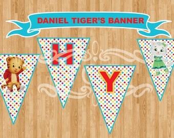Daniel Tiger   Happy Birthday  Banner  [INSTANT DOWNLOAD)