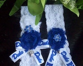 Duke University,Duke Basket Ball Garter,Lace Garter,Bridal Garter,Something Blue,Rhinestone Garter<Wedding,Something Blue,Sports Garter