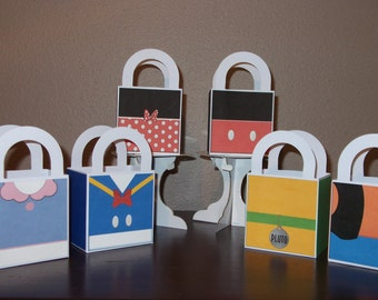 Mickey & Friends 3x3 Favor/Treat Bags (Set of 12)
