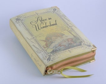 Alice in Wonderland Book Clutch