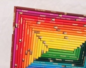 Pencil Art - abstract - colorful - home decor - kid's room decor
